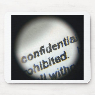 Confidential Prohibited Mousepads