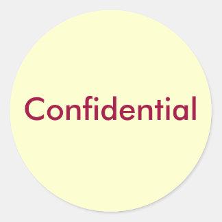 Confidential Round Sticker