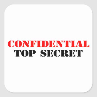 Confidential Square Sticker