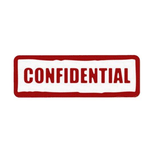 Confidential Stickers
