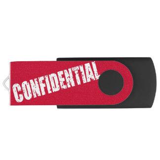 Confidential Swivel USB 2.0 Flash Drive
