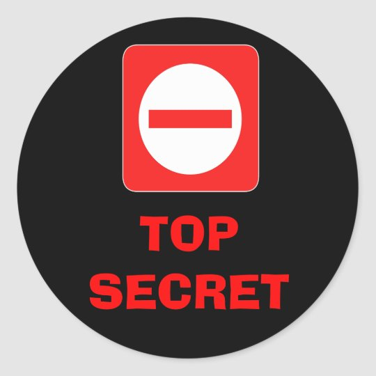 Confidential Top Secret Warning Label