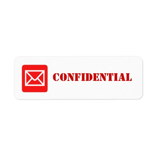 Confidential Top Secret Warning Label Return Address Label