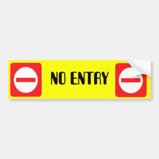 Confidential Top Secret Warning No Entry Sticker Bumper Sticker