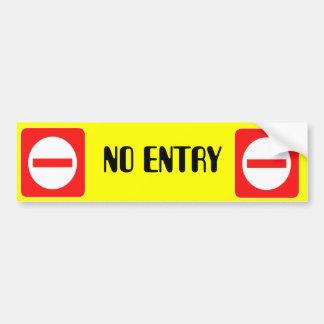 Confidential Top Secret Warning No Entry Sticker Car Bumper Sticker