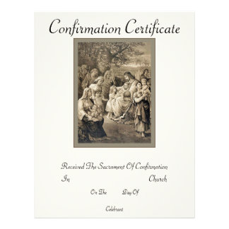 Confirmation Certificate 21.5 Cm X 28 Cm Flyer