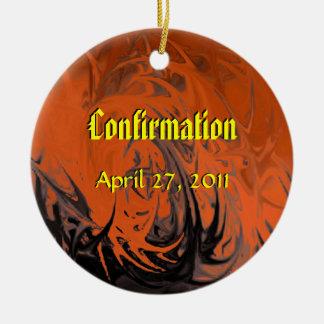 Confirmation (dancing flames) christmas ornament