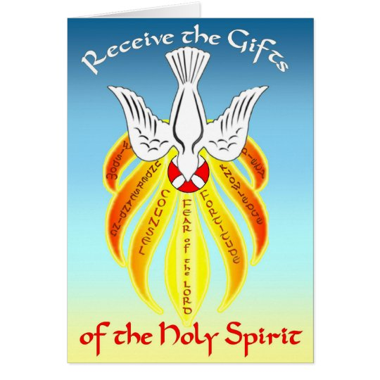 Confirmation Greeting Card Gifts of Holy Spirit