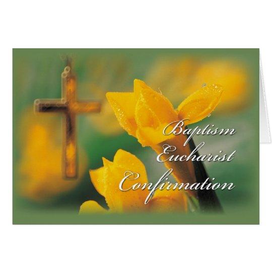 Confirmation Initiation Sacraments Card