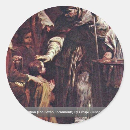 Confirmation (The Seven Sacraments) Round Sticker