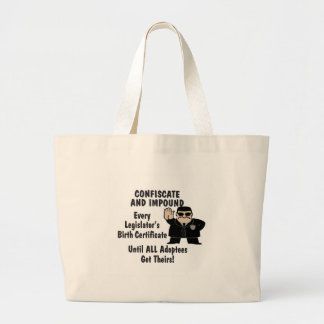 Confiscate Jumbo Tote Bag