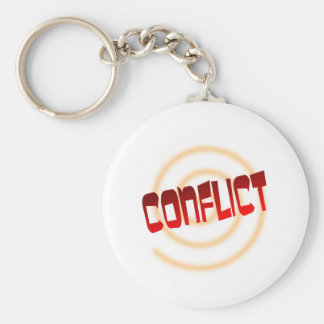 conflict basic round button key ring