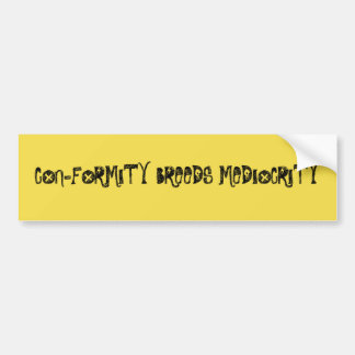 Conformity 4 bumper sticker