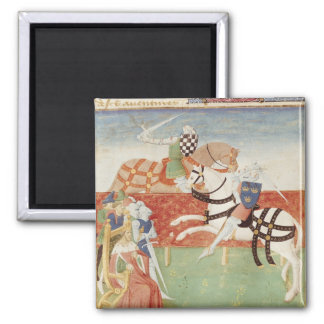 Confrontation of Two Knights before the King Square Magnet