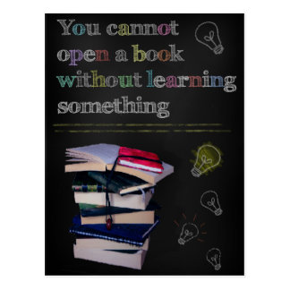 Confucius Cannot Open a Book Quote Postcard