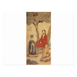 Confucius, Lao-tzu and Buddhist Arhat Postcard
