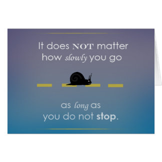 Confucius Motivational Quote Greeting Card