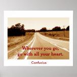 Confucius quote - art print