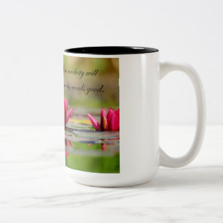 Confucius Quotes with Lotus Flower Two-Tone Coffee Mug