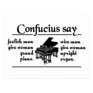 CONFUCIUS SAY … custom postcard