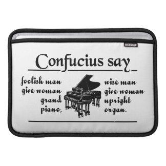 CONFUCIUS SAY … iPad / laptop sleeve MacBook Air Sleeve
