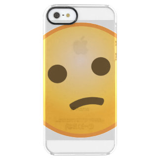 Confused Emoji Clear iPhone SE/5/5s Case