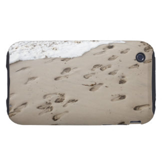 Confused Footsteps in the sand iPhone 3 Tough Covers