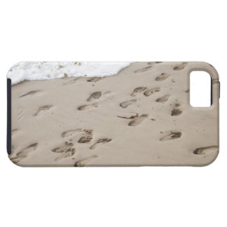 Confused Footsteps in the sand iPhone 5 Cover
