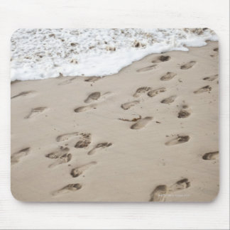 Confused Footsteps in the sand Mouse Pad
