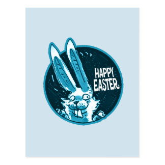 Easter funny sayings gifts t shirts art posters other gift confused funny rabbit says happy easter cartoon postcard negle Image collections