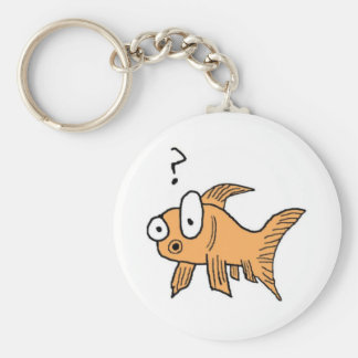 Confused Goldfish Key Ring