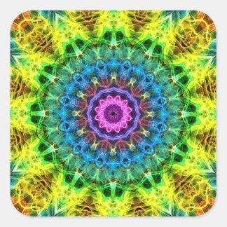 confused harmony kaleidoscope square sticker