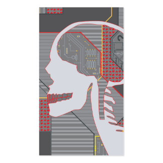 confused heart logicskull business card