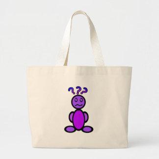 Confused (plain) jumbo tote bag