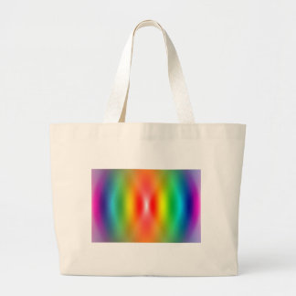 Confused rainbow colours abstract canvas bag