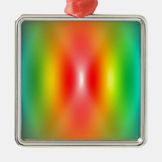 Confused rainbow colours abstract christmas ornament