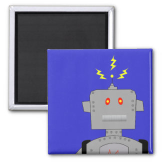 confused robot square magnet