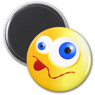 Confused Yellow Smilie Magnet