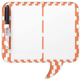 Confusing lines Orange Dry Erase Board