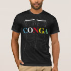 Conga Drums and Text Black T-Shirt