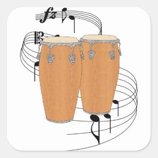 Conga Drums Square Sticker