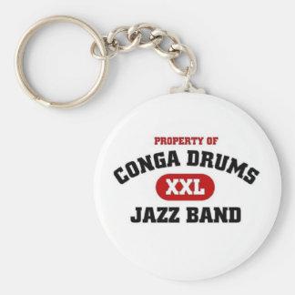 Conga Drums xxl Jazz band Key Ring