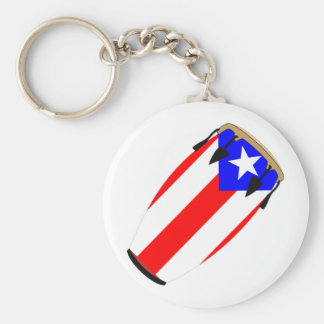 Conga Flag Puerto Rico Key Ring