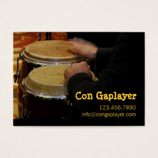 congaplayer's hands on instrument