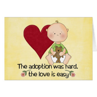 congatulations adoption card