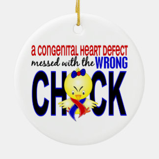 Congenital Heart Defect Messed With Wrong Chick Christmas Ornament