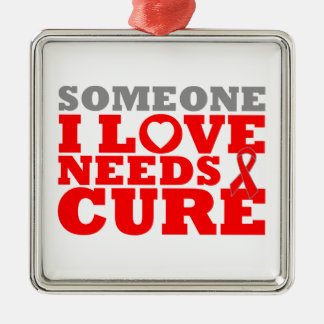 Congestive Heart Failure Needs A Cure Square Metal Christmas Ornament