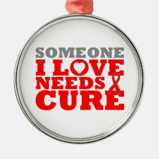 Congestive Heart Failure Needs A Cure Round Metal Christmas Ornament