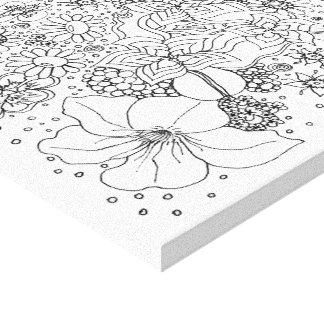 Conglomeration of Flowers Canvas Print