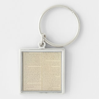 Congo, Africa 39 Silver-Colored Square Key Ring